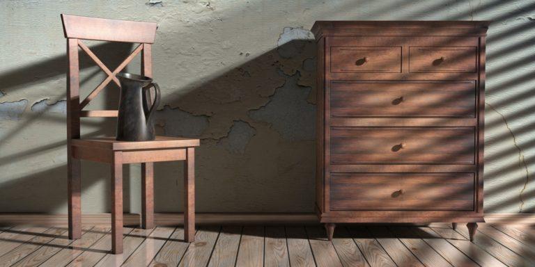 House living room interior furniture background. 3d illustration